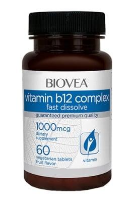 Biovea Vitamin B 12 complex 1000 mcg 60 tablets / Биовеа Витамин Б 12 комплекс 1000 мкг. 60 таблетки