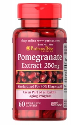 Puritan`s pride pomegranate extract 250 mg 60 capsules / Пуританс Прайд екстракт от Нар 250 мг. 60 капсули