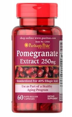 Puritan`s pride pomegranate extract 250 mg 60 capsules / Пуританс Прайд екстракт от Нар 250 мг. 60 капсули