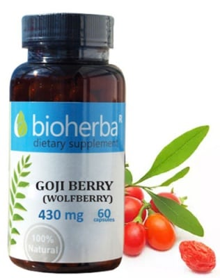 Bioherba Goji berry (wolfberry) 430 mg 60 capsules / Биохерба Годжи бери (лиций) 430 мг. 60 капсули
