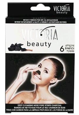 Victoria beauty Cleansing nose strips with charcoal 6 / Виктория бюти Ленти за почистване на нос с активен въглен 6 броя.
