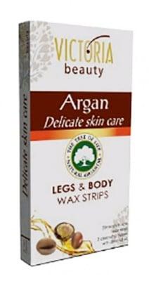 Victoria Legs and body wax strips with Argan 20 / Виктория Депилиращи ленти за тяло с Арган 20 броя
