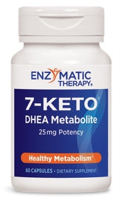 Keto - 7 25 mg 60 capsules Enzymatic Therapy / Кето - 7 25 мг. 60 капсули Enzymatic Therapy