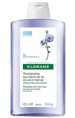 Klorane shampoo with flax fiber 400 ml / Клоран Шампоан с ленени влакна за тънка коса 400 мл.