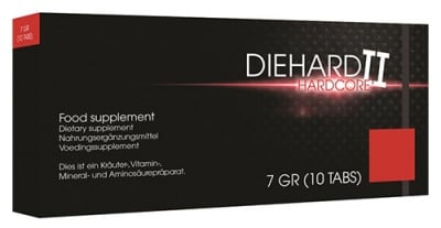 Die hard II hardcore men 10 tablets / Дай хард II хардкор за мъже 10 таблетки