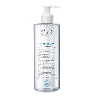 SVR Physiopure Cleansing miccelar water pure and mild 400 ml / Физиопюр Мицеларна вода 400 мл SVR