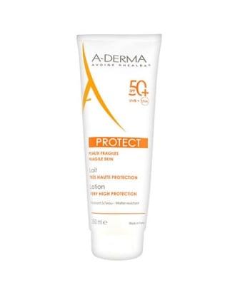 A-derma Protect sunscreen lotion SPF 50+  250 ml / А-дерма Протект слънцезащитно мляко SPF 50+  250 ml