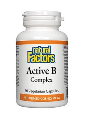 Active B complex Natural Factors 60 capsules / Актив Б комплекс Натурал Факторс 60 капсули