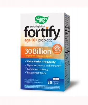 Primadophilus fortify age 50+ probiotic 30 bn 30 capsules Nature`s Way / Примадофилус Фортифай ейдж 50+ 30 млрд 30 капсули Nature`s Way