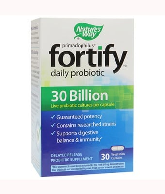 Primadophilus fortify daily probiotic 30 bn 30 capsules Nature`s Way / Примадофилус Фортифай дейли 30 млрд 30 капсули Nature`s Way