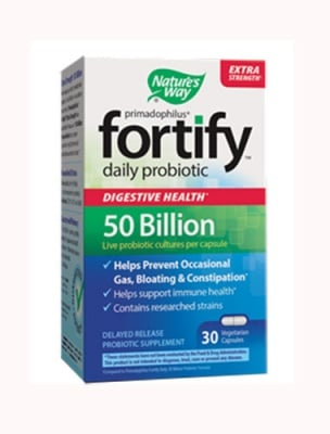 Primadophilus fortify daily probiotic 50 bn 30 capsules Nature`s Way / Примадофилус Фортифай дейли 50 млрд 30 капсули Nature`s Way
