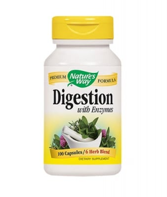 Digestion with enzymes mix 100 capsules Nature`s Way / Ензими и билки смес 100 капсули Nature`s Way