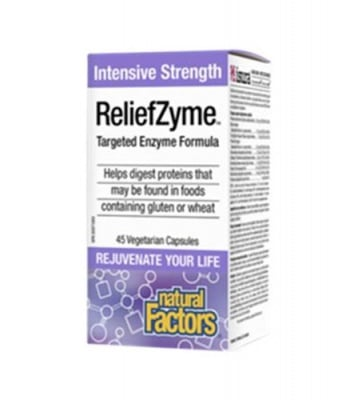 Reliefzyme formula 295 mg 45 capsules Natural Factors / Релийф ензимна формула 295 мг 45 капсули Натурал Факторс