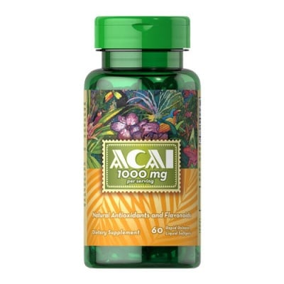 Puritan`s pride Acai 1000 mg 60 capsules / Пуританс прайд Акай 1000 мг 60 капсули