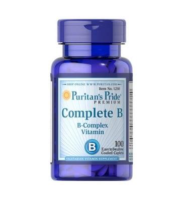 Puritan`s pride complete B 100 caplets / Пуританс прайд Витамин Б комплекс 100 каплети