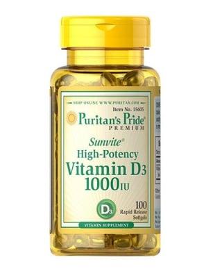 Puritan`s pride vitamin D3 1000 IU 100 capsules / Пуританс прайд Витамин Д3 1000 IU 100 капсули