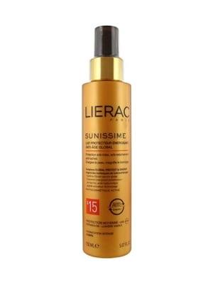 Lierac sunussime energizing protective milk global anti- aging SPF 15 150 ml / Лиерак Сънисим слънцезащитно енергизиращо мляко за тяло SPF 15 150 мл