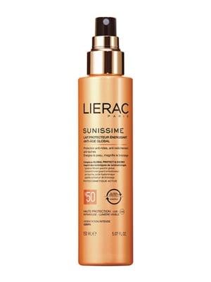 Lierac sunussime energizing protective milk global anti- aging SPF 50 150 ml / Лиерак Сънисим слънцезащитно енергизиращо мляко за тяло SPF 50 150 мл