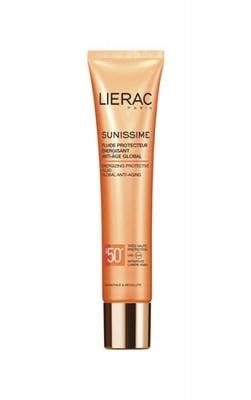 Lierac Sunissime energizing protective fluid global anti- aging SPF50 40 ml / Лиерак Сънисим слънцезащитен енергизиращ флуид за лице SPF50 40 мл