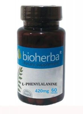 Bioherba L-phenylalanine 420 mkg 60 capsules / Биохерба L- фенилаланин 420 мкг 60 капсули
