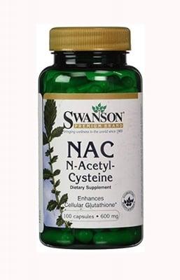 Swanson N-acetyl cysteine 600 mg 100 capsules / Суонсън Н-ацетил цистеин 600 мг 100 капсули