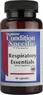 Swanson condition specific formulas respiratory essentials 60 capsules / Суонсън добавка за здравето на дихателните пътища 60 капсули