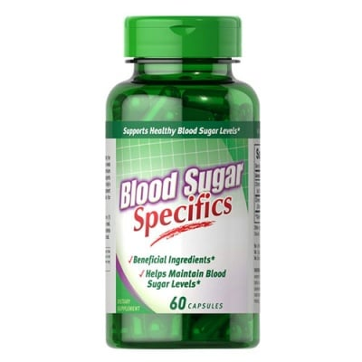 Puritan`s Pride Blood sugar specifics 60 capsules / Пуританс Прайд Блад шугар спецификс с канела и хром 60  капсули