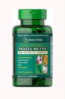 Puritan`s Pride Prosta-meto for men saw palmetto complex 240 capsules / Пуританс Прайд Проста- мето комплексна формула за мъже със сао палмето 240  капсули
