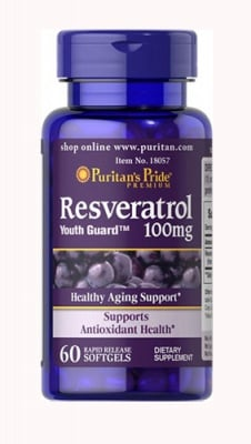 Puritan's Pride Resveratrol 100 mg 60 capsules / Пуританс Прайд Ресвератрол 100 мг 60 капсули