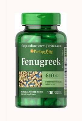 Puritan's Pride Fenugreek 610 mg 100 capsules / Пуританс Прайд Сминдух 610 мг 100 капсули