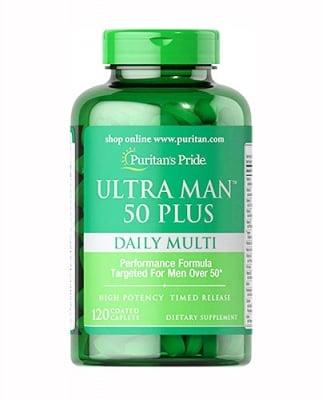 Puritan`s Pride Ultra man 50 plus daily multy 120 caplets / Пуританс Прайд Ултра мен 50+ мултивитамини за мъже 120 каплети