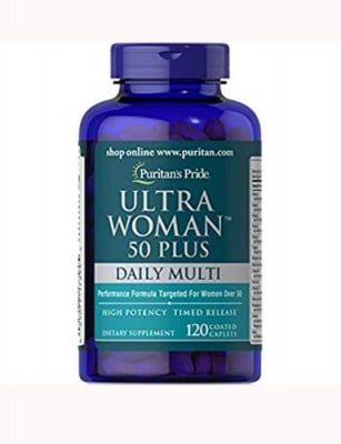 Puritan`s Pride Ultra woman 50 plus daily multy 120 caplets / Пуританс Прайд Ултра уоман 50+ мултивитамини за жени 120 каплети