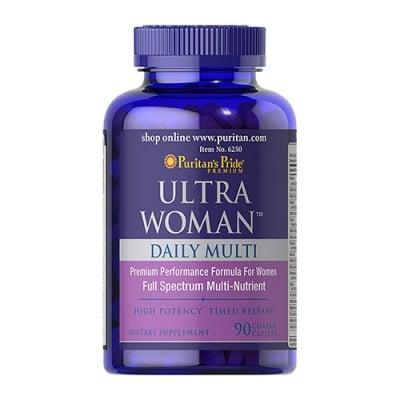 Puritan`s Pride Ultra woman daily multy 90 caplets / Пуританс Прайд Ултра уоман мултивитамини за жени 90  каплети