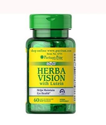 Puritan`s Pride Herba vision with lutein 60 capsules / Пуританс Прайд Херба вижън с лутеин 60 капсули