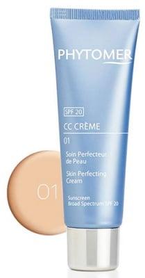 Phytomer CC cream 01 skin perfecting cream sunscreen broad spectrum SPF 20 50 ml / Фитомер СС крем перфект за сияйна кожа SPF 20 светъл цвят 01 50 мл