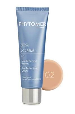 Phytomer CC cream 02 skin perfecting cream sunscreen broad spectrum SPF 20 50 ml / Фитомер СС крем перфект за сияйна кожа SPF 20 светъл цвят 02 50 мл