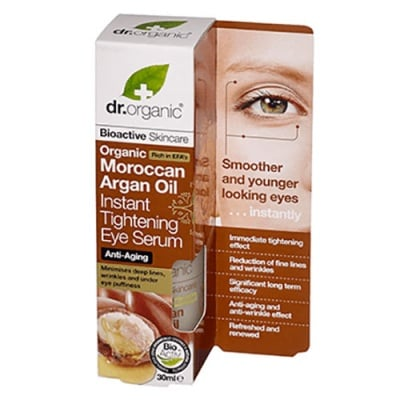 Dr. Organic Moroccan Argan Oil Instant tightening eye serum 30 ml. / Др. Органик Арган Серум за очи с анти-ейдж ефект 30 мл.