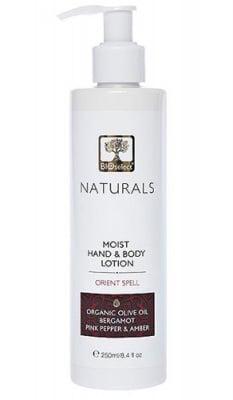 Bioselect Naturals moist hand and body lotion orient spell 250 ml / Биоселект натуралс лосион за ръце  и тяло ориенталска магия 250 мл