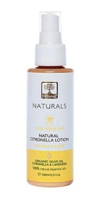Bioselect Naturals citronella lotion 100 ml / Биоселект натуралс лосион против ухапване от насекоми 100 мл