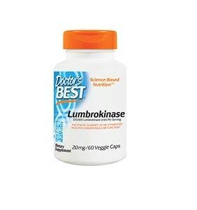 Doctor's Best Lumbrokinase 20 mg. veggie capsules 60 / Доктор'с Бест Лумброкиназа 20 мг. 60 капсули