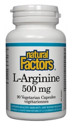 L-arginine 500 mg 90 capsules Natural Factors / L-аргинин 500 мг. 90 капсули Натурал Факторс