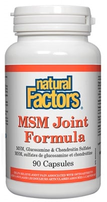 MSM joint formula 840 mg 90 capsules Natural Factors / МСМ формула за стави 840 мг. 90 капсули Натурал Факторс