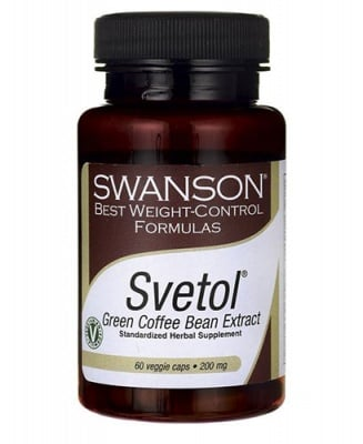 Swanson Svetol green coffe bean 200 mg 60 capsules / Суонсън Светол зелено кафе 200 мг 60 капсули
