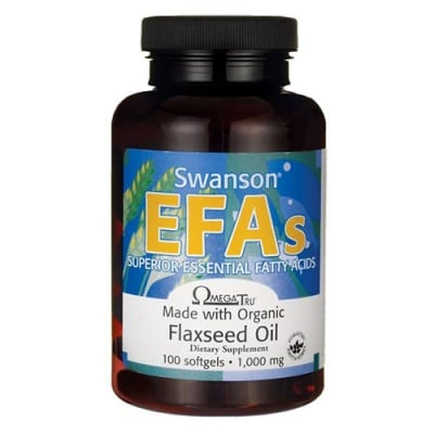Swanson EFA Flaxseed oil 1000 mg 100 capsules / Суонсън Ленено масло ЕФА 1000 мг 100 капсули