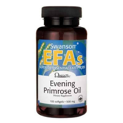 Swanson evening primrose oil EFA 500 mg 100 capsules / Суонсън Масло от вечерна иглика ЕФА 500 мг 100 капсули