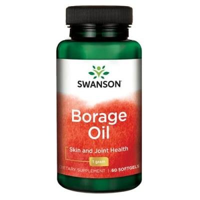 Swanson EFA borage oil 1000 mg 60 capsules / Суонсън Масло от пореч ЕФА 1000 мг 60 капсули