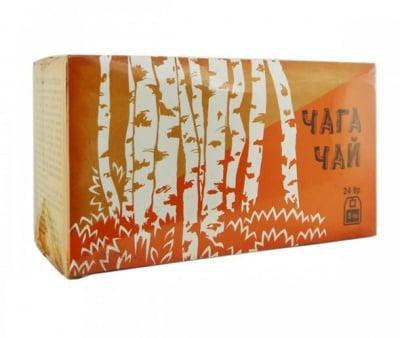 Chaga tea 24 filter bags / Чай филтър чага 24 филтърни пакетчета