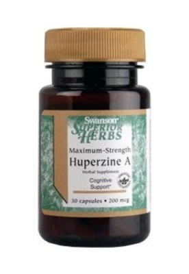 Swanson Superior herbs maximum strength huperzine A 200 mcg 30 capsules / Суонсън Хуперзин А максимална сила 200 мкг 30 капсули