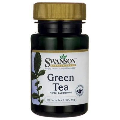 Swanson Green tea 500 mg 30 capsules / Суонсън Зелен чай 500 мг 30 капсули