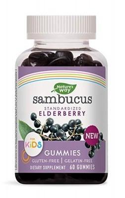 Sambucus Standartized elderberry gummies for kids 60 Nature`s way / Самбукус Гъми кидс 60 желирани таблетки Nature`s way